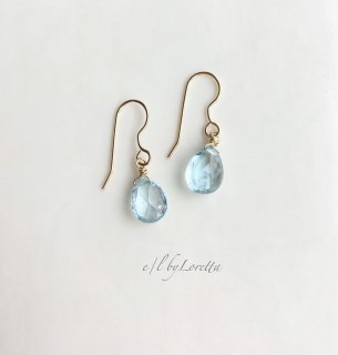 アクアマリン Drop pierce/earring