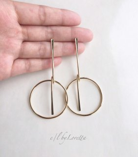 Metal stick hoop pierce(Gold)