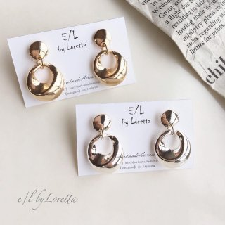 (全2色)Metal mini plate pierce