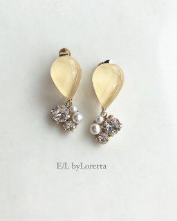 Color shizuku bijou pierce/earring(Yellow)