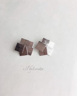 Silver random square plate pierce