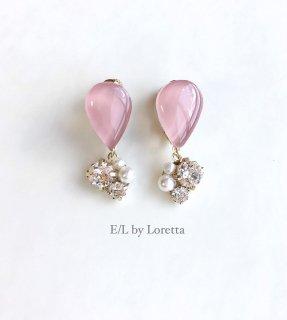 【3/30(mon)21:00〜Order Start.】Color shizuku bijou pierce/earring(Pink)