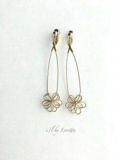 【4/3(fri)21:00〜Order Start.】 真鍮  flower  pierce/earring