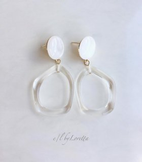 Clear hoop pierce/earring