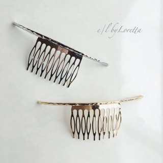 (全2色)Metal hair comb