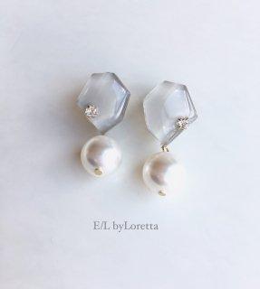 KAKERA pearl pierce/earring(Beige)