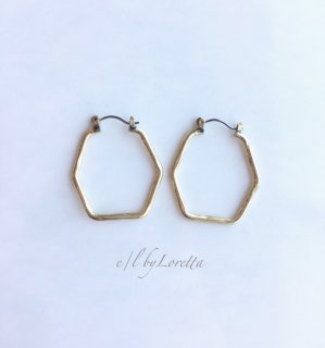 【5/30(sat)21:00〜Order Start.】真鍮 hexagon hoop pierce