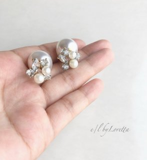 2way pearl catch bijou pierce