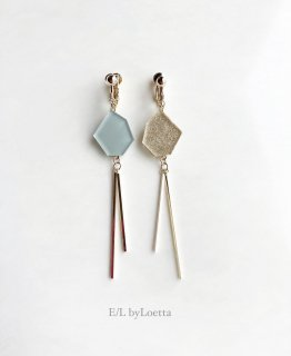 Asymmetry KAKERA w stick pierce/earring(Mint × Gold)