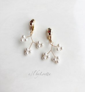 Pearl branch pierce/earring