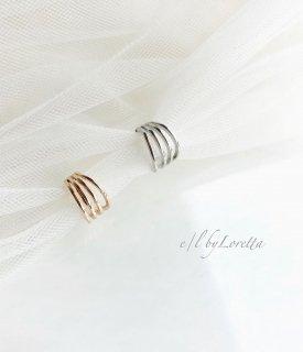(全2色)Metal line ear cuff