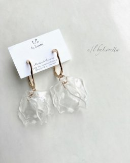 Clear petal hoop pierce