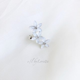【8/11(tue)21:00〜Order Start.】White crystal flower ear cuff