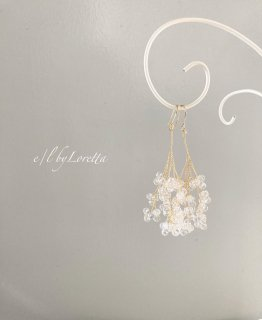 Crystal branch pierce/earring
