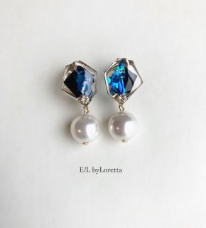 Shell art pearl pierce/earring