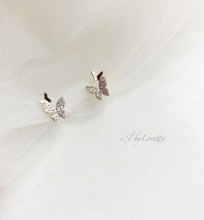 Butterfly crystal no hole earrings