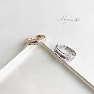 (全2色)3連 design Ring