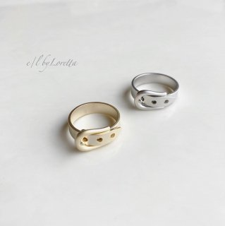 (全2色)Metal belt Ring