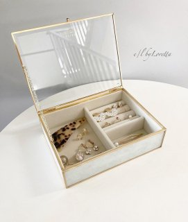 White marble jewelry Box