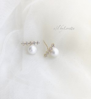 Crystal stick pearl pierce