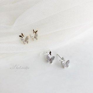 (全2色)Butterfly crystal piece/ear cuff