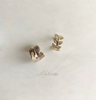 Metal leaf & wing ear cuff