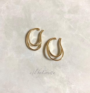 【10/27(tue)21:00〜Order Start.】Metal W line ear cuff