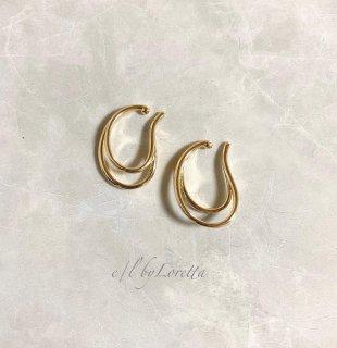 Metal W line ear cuff