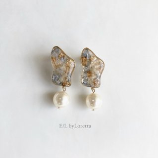 Flower pearl pierce/earring(Assort)