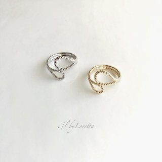 (全2色)Metal design Ring