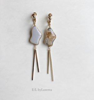 Flower w stick pierce/earring(Assort)