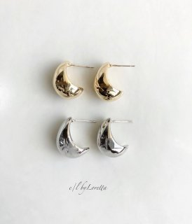 (全2色)Metal beans drop pierce