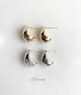 (全2色)Metal beans drop pierce
