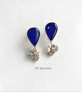 【11/30(mon)21:00〜Order Start.】Color shizuku bijou pierce/earring(Blue)