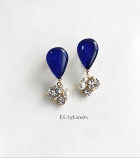 【11/30(mon)21:00〜Order Start.】Color shizuku bijou pierce/earring(Blue)