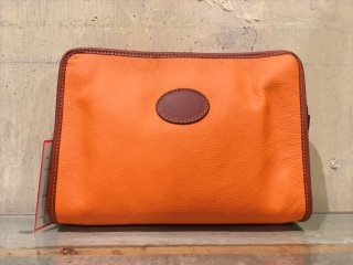 Alexandre Mareuil -Leather Toilet Case (Orange)- Made in France