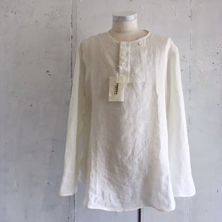 COPANO 86 -Linen Henley Neck Shirt (Natural)- Made in Japan