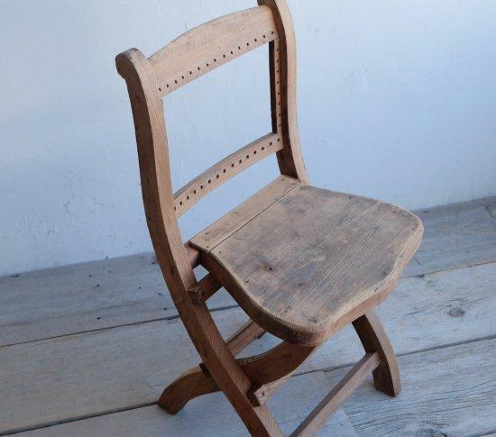 シックな折りたたみ椅子の画像