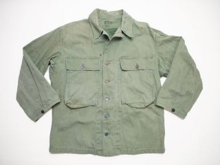 40's Vintage 【US ARMY】13STAR HBT JACKET ヘリンボーンツイル ミリタリージャケット◆Size: US-36 【USED】