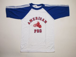 70's  USA製 ビンテージ デッドストック モーターサイクル Tシャツ バイク モトクロス US-S【Deadstock】