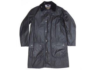 【Barbour SL BORDER】英国製 バブアー スリムフィット ボーダー オイルドジャケット コート アウター 黒◆Size:UK-36【USED】