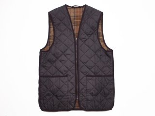 【Barbour】QUILTED WAISTCOAT バブアー キルテッド ウェストコート ベスト ライナー 茶◆Size:UK-38【USED】