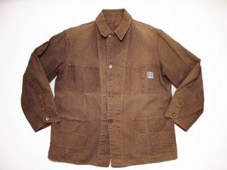 40's Vintage【SWEET-ORR】ビンテージ スウィートオール ブラウンダック ワーク カバーオール◆Size:US-42相当【USED】