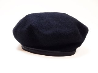 【US.ARMY】Military Beret Wool Black 米軍実物 ミリタリー ウール ベレー帽 黒◆Size:US-7 1/2(59cm)【DEADSTOCK】