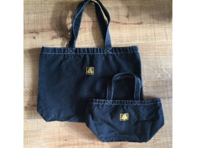 【BLACK DYED】 CANVAS TOTE BAG オリジナル 黒染め キャンバス トートバッグ ランチバッグ