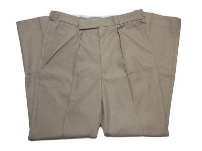 90's 【BRITISH ARMY】 イギリス軍 RAF Tropical Stone Trousers ドレスパンツ ミリタリー トラウザーズ スラックス【DEADSTOCK】