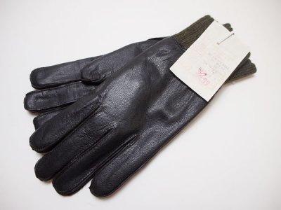 【CZECH ARMY】チェコ軍 ビンテージ ミリタリー レザーグローブ 本革 手袋 【DEADSTOCK】