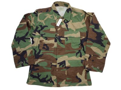 90's Vintage【US ARMY】米軍 ウッドランドカモ BDUジャケット ミリタリー DLA100-92-D-0408◆Size: US-S-S【DEADSTOCK】