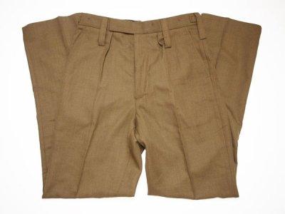 1999−2000 【BRITISH ARMY】イギリス軍 Barrack Dress Pants バラックパンツ ドレスパンツ ウールスラックス 茶◆Size:w84×L76【DEADSTOCK】