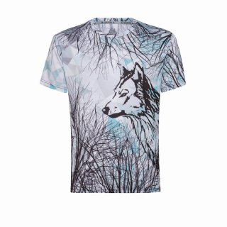 WILD TEE_M's WOLF MEN TECH T-SHIRT